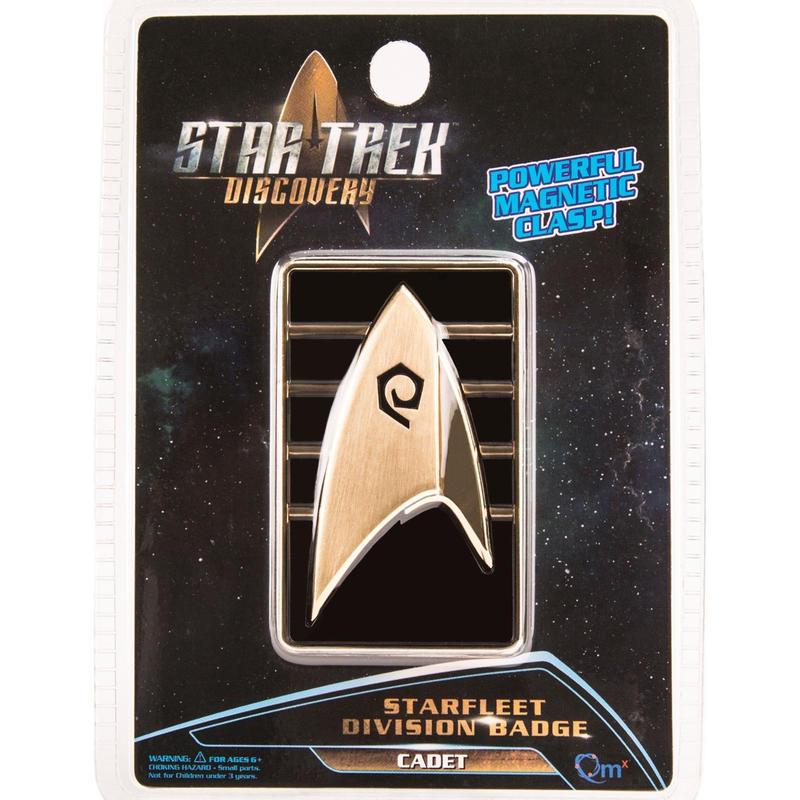 【USA直輸入】スタートレック Discovery 士官候補生 Cadet マグネット式 エンブレム バッヂ   Star Trek ディスカバリー ロゴ マーク Qmx シルビアティリー