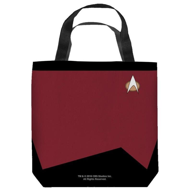 【USA直輸入】スタートレック コマンド 赤色 制服 トートバッグ スタトレ  Star Trek ロゴ バック Command バッグ