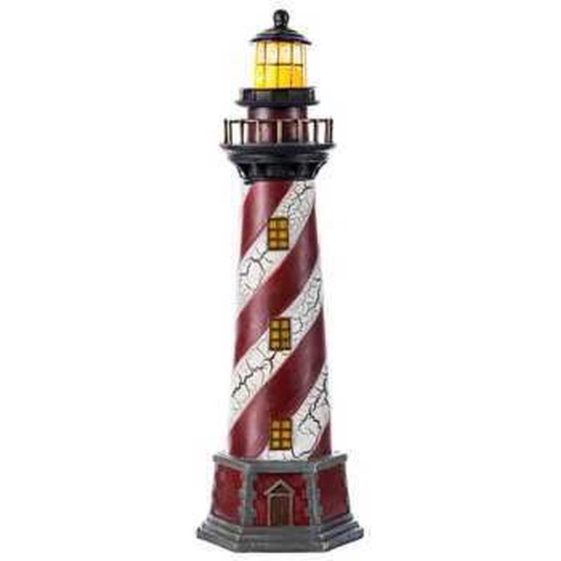 【USA直輸入】赤&白 ライトハウス 灯台 ランプ ライト アメ雑 インテリア 置物
