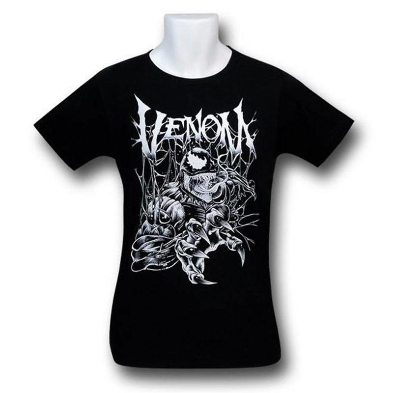 【USA直輸入】MARVEL ヴェノム 鋭い爪 Metal Claws Tシャツ スパイダーマン ベノム マーベル
