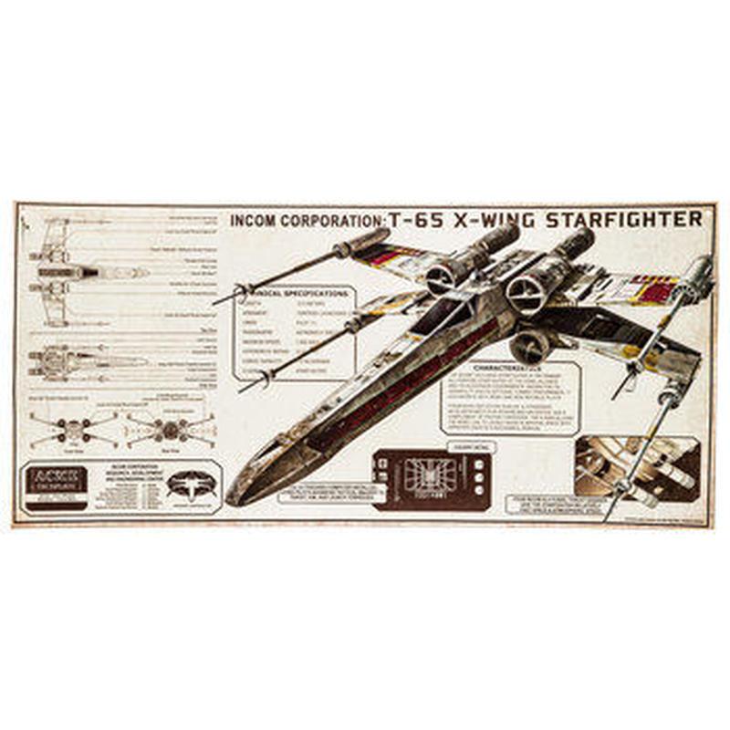 【USA直輸入】スターウォーズ ブリキ看板  T-65  X-Wing Xウィング スターファイター エンボス加工 ブリキ 看板 メタルサイン ポスター   壁掛け インテリア STARWARS