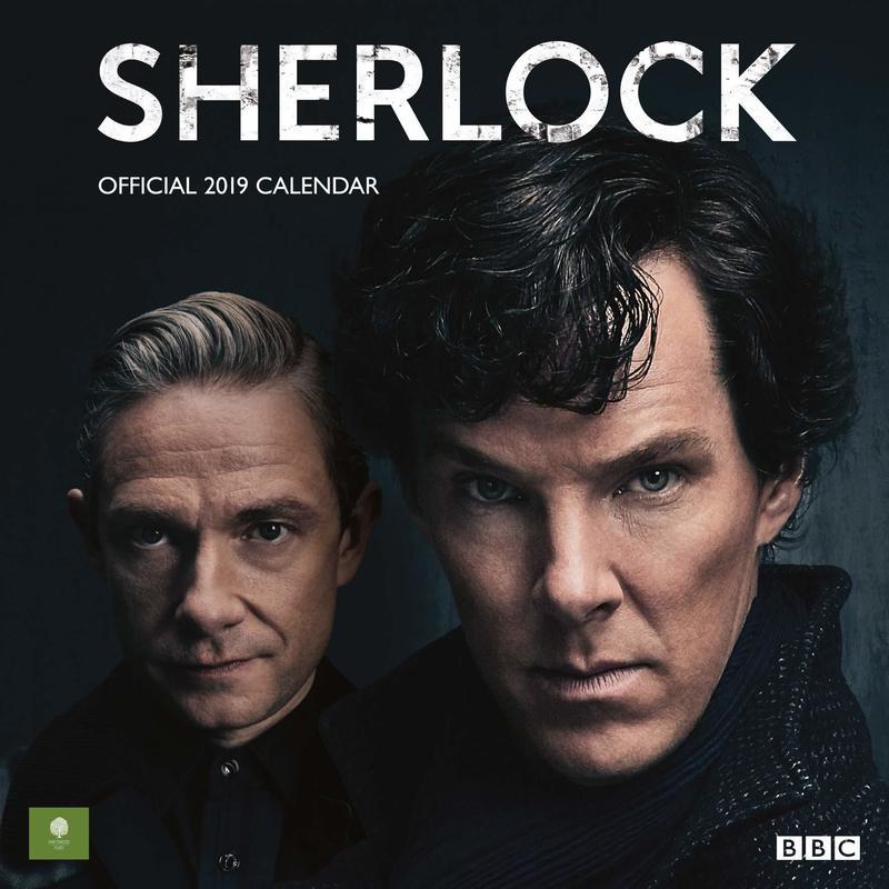 【海外直輸入】SHERLOCK シャーロック 2019年 カレンダー 221B 壁紙 カンバーバッチ BBC ベーカーストリート ジョン ホームズ   ワトソン
