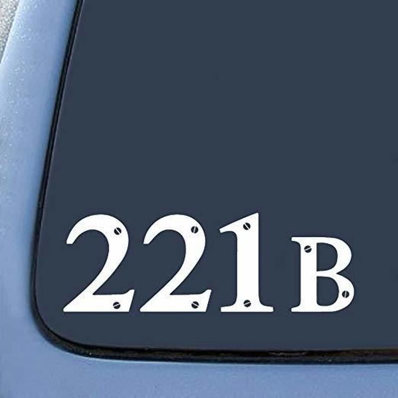 【USA直輸入】SHERLOCK シャーロック インスパイア 221B ステッカー デカール カンバーバッチ BBC ベーカーストリート