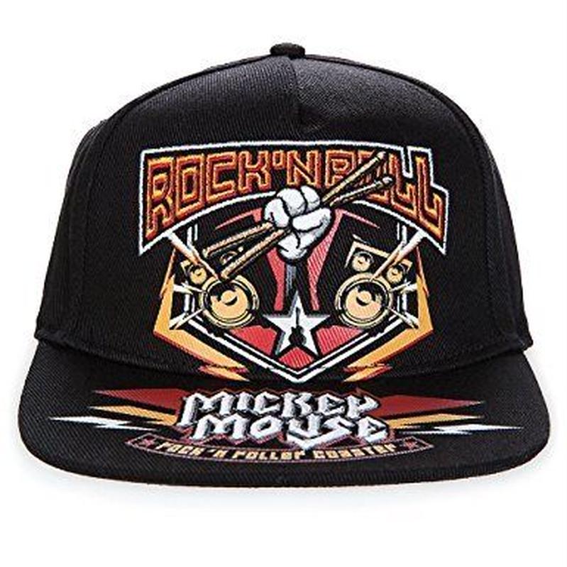 【USA直輸入】DISNEY  ミッキー ロックンローラー コースター 黒色 キャップ 帽子 ベースボール ハット ミッキーマウス スナップバック