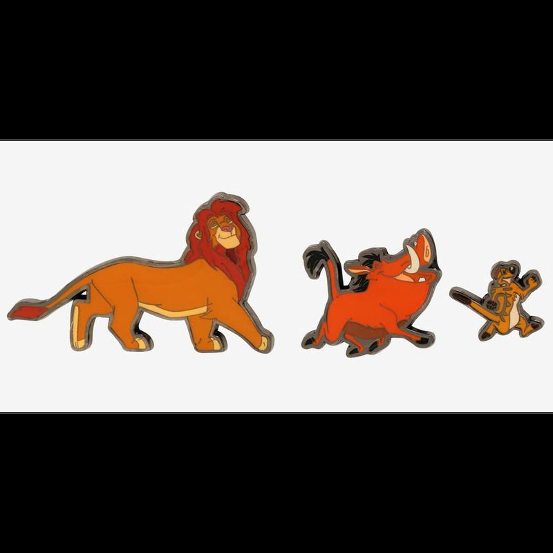 【USA直輸入】DISNEY ライオンキング シンバ ティモン プンバ エナメル ピン 3個セット ピンズ ピンバッジ Lion King ディズニー