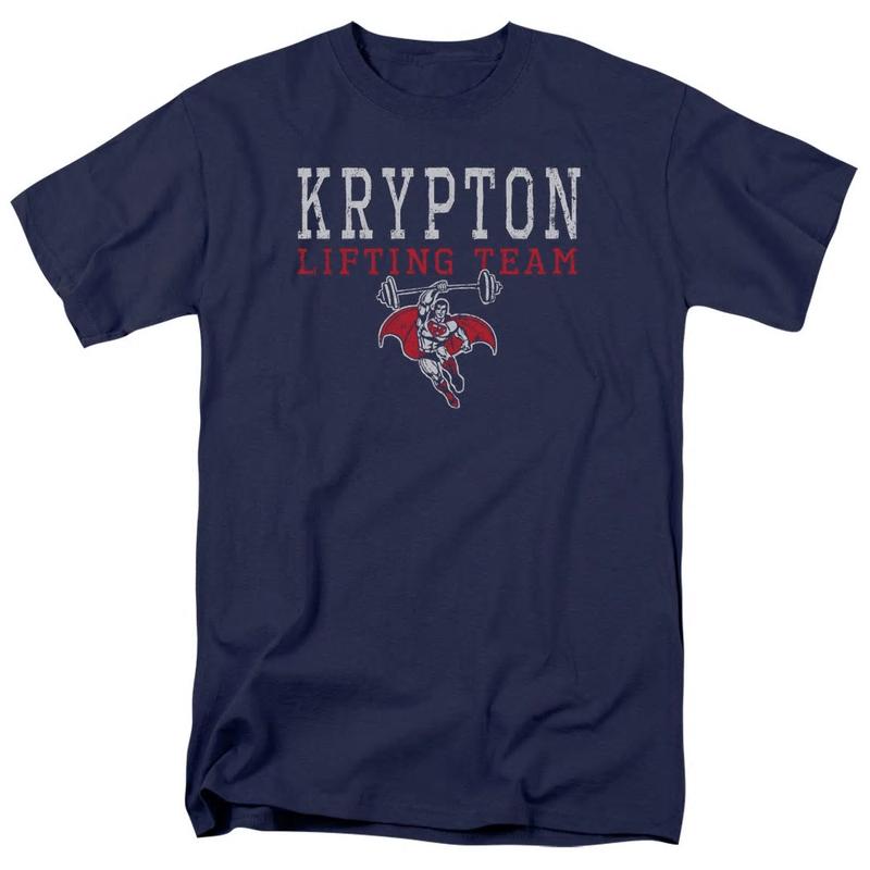 【USA直輸入】DC スーパーマン ヘンリー・カヴィル Krypton クリプトン リフティングチーム Tシャツ DCコミックス Superman