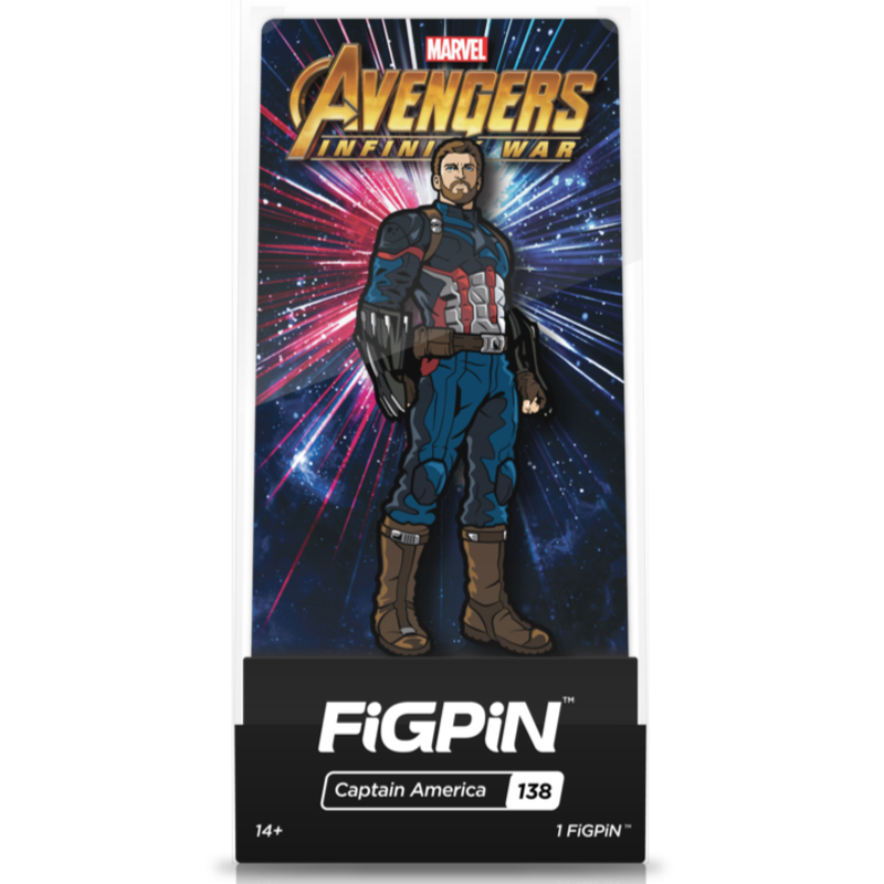 【US直輸入】MARVEL FigPin  #138  フィグピン キャプテンアメリカ フィギュア マーベル アベンジャーズ ピン ピンズ キャプテン アメリカ インフィニティウォー