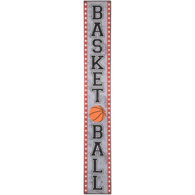 【USA直輸入】ウォールデコ 木製 縦長 バスケットボール バスケ 看板  ポスター Basketball