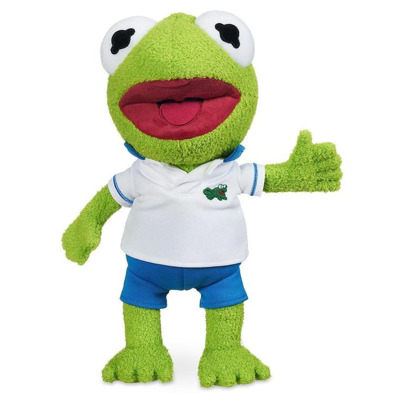 【USA直輸入】DISNEY マペッツ ベイビー カーミット 白シャツ ぬいぐるみ プラッシュ ディズニー  The  Muppets 人形