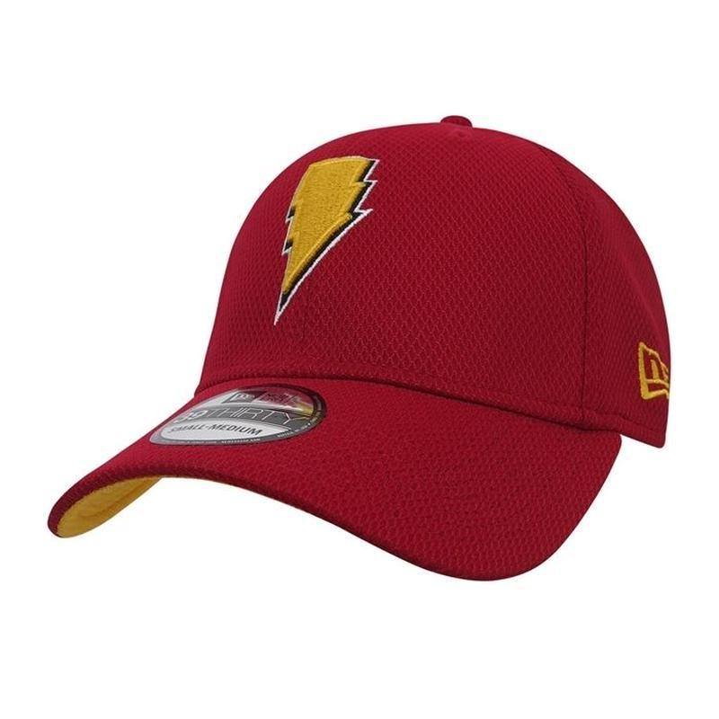 【USA直輸入】DC   シャザム  Shazam シンボル キャップ 39Thirty Fitted ニューエラ NEWERA ベースボール キャップ 帽子 DCコミックス