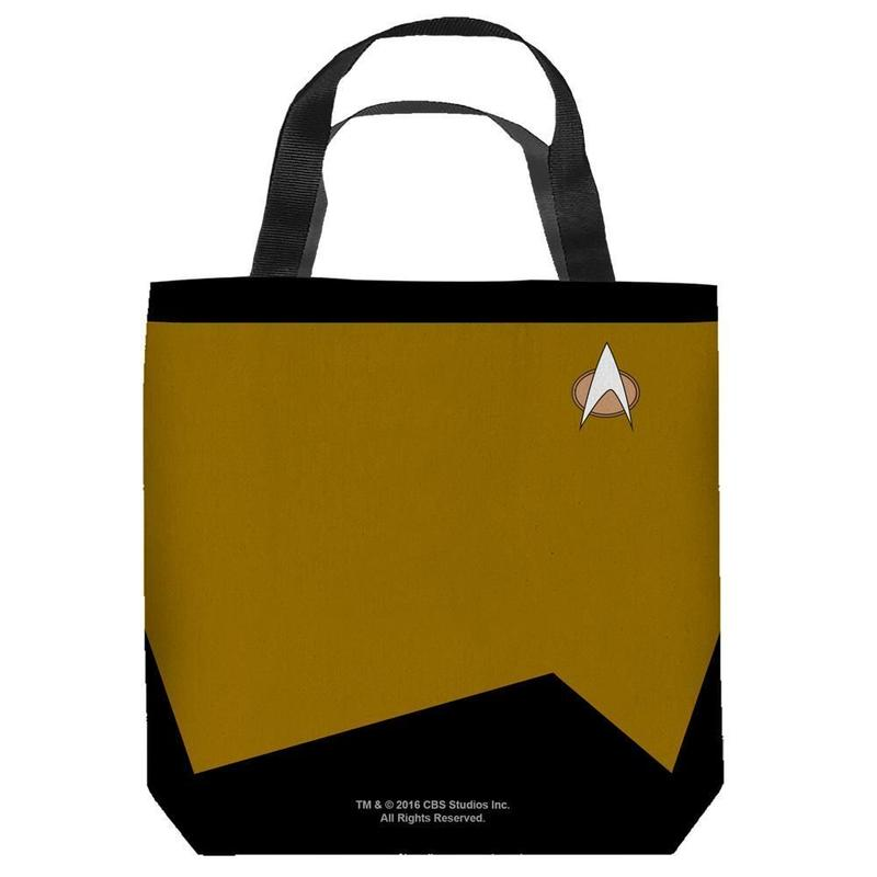 【USA直輸入】スタートレック エンジニア 黄色 制服 トートバッグ スタトレ  Star Trek ロゴ バック Engineering バッグ