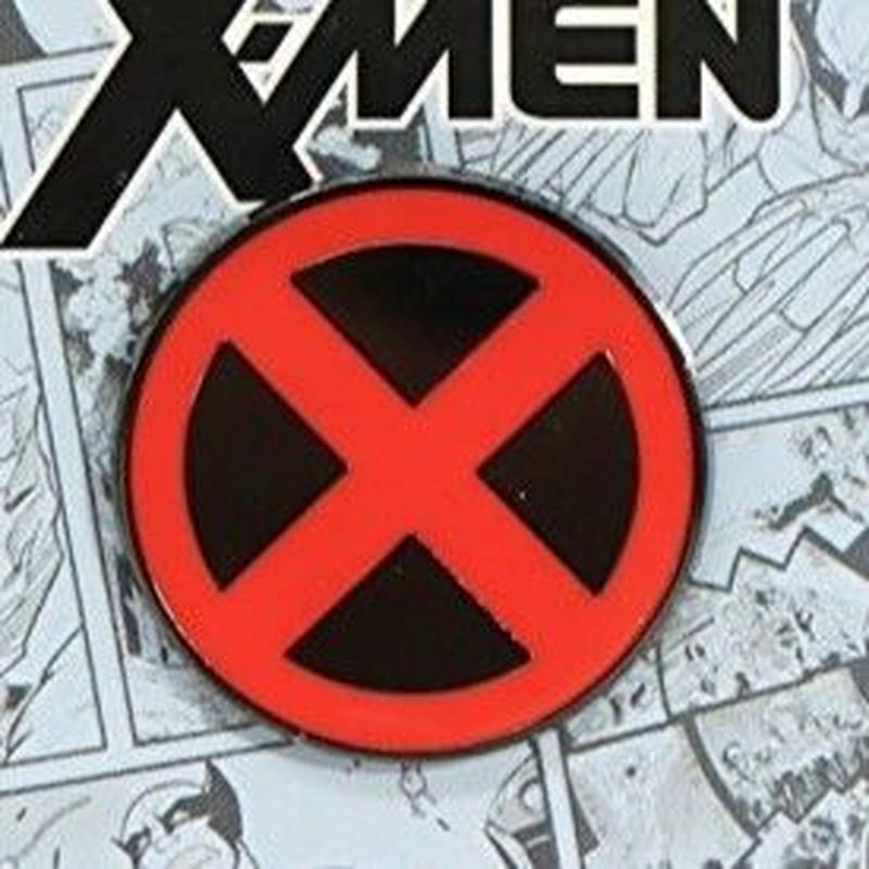 【USA直輸入】MARVEL X- MEN シンボル ロゴ エナメル ピン マーベル ピンズ ピンバッジ Xメン プロフェッサーX  エックスメン