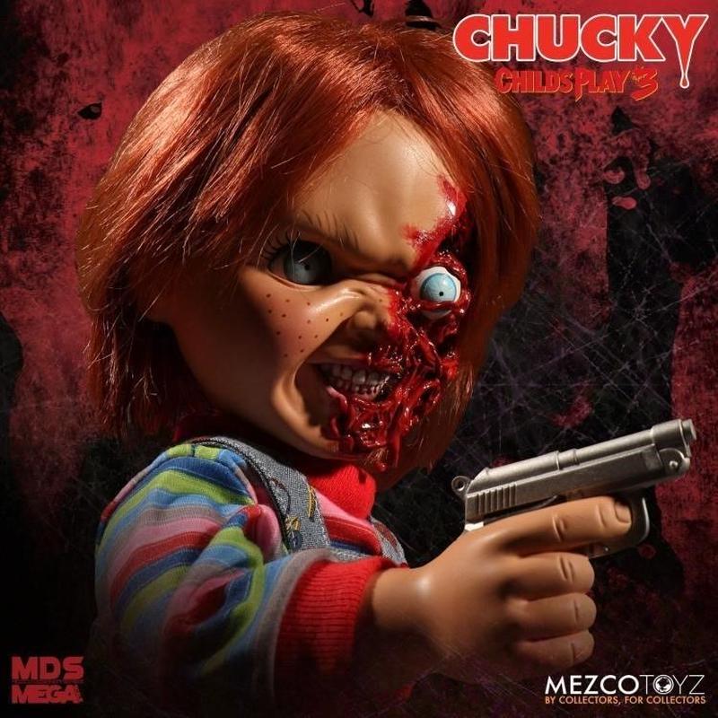 【USA直輸入】チャッキー Child's Play  3 Mezco デザイナーシリーズ トーキング  ピザフェイス Chucky  ホラー フィギュア チャイルドプレイ ドール ホラー