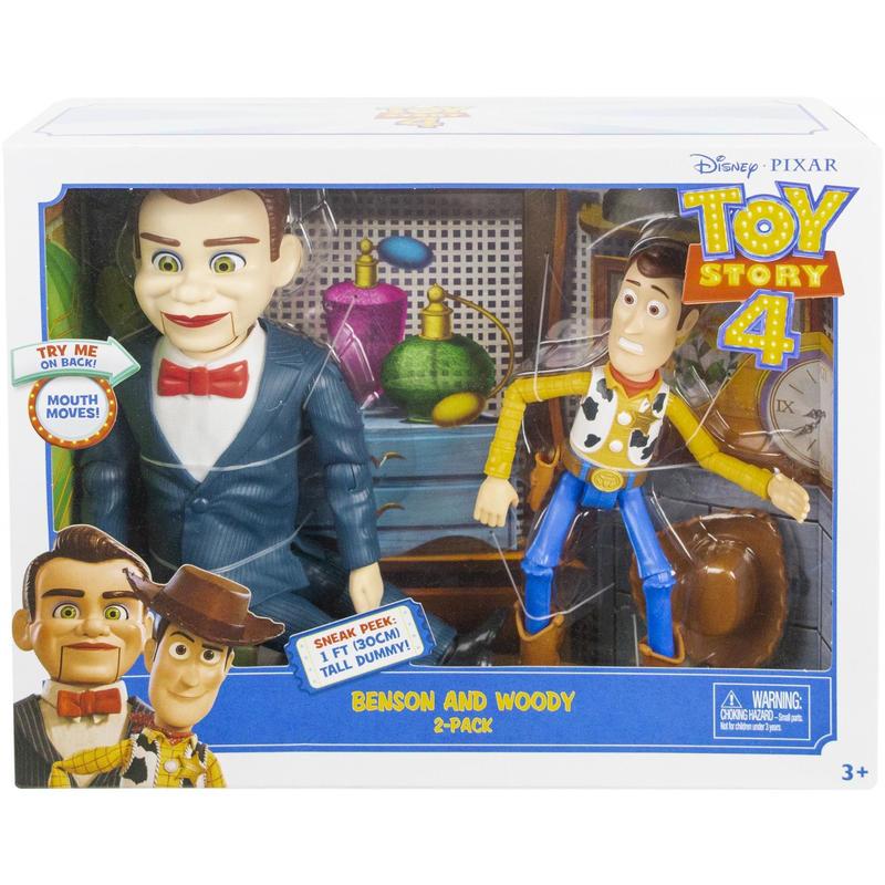 【USA直輸入】DISNEY トイストーリー ベンソン & ウッディ フィギュア 2体セット Toy Story  ディズニー ピクサー トイストーリー4