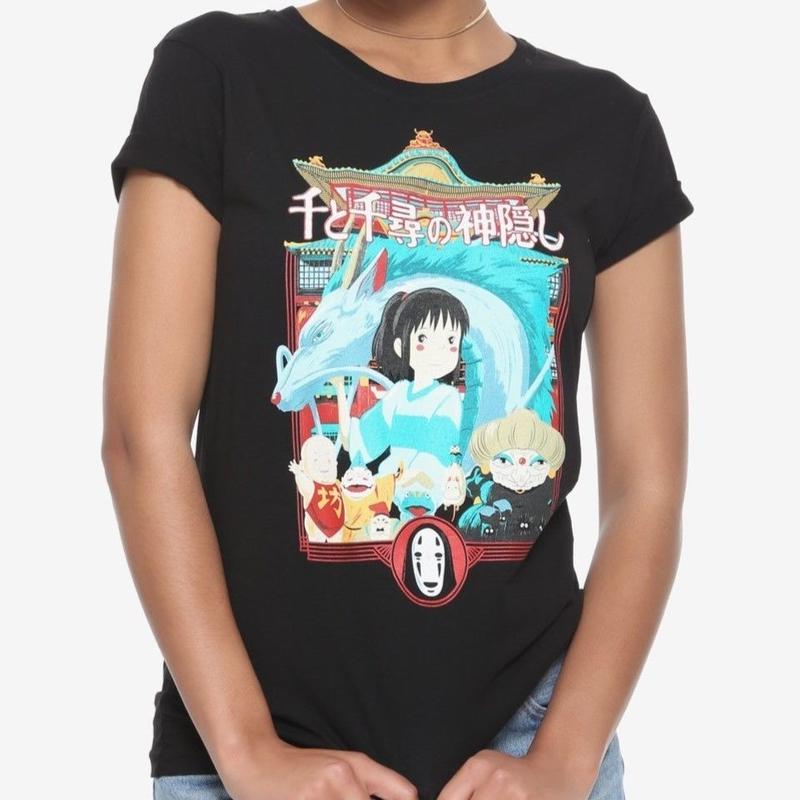 【USA直輸入】ジブリ 千と千尋の神隠し Tシャツ カオナシ ボー ユバーバ ハク スタジオジブリ