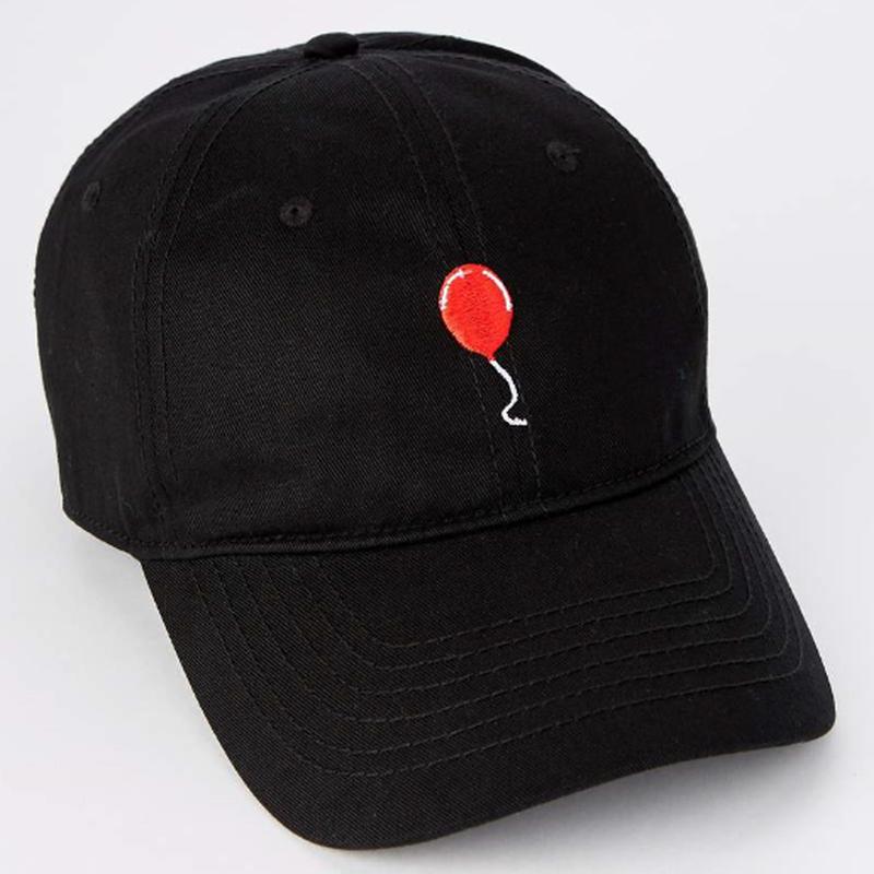 """【USA直輸入】 IT  イット """"それ""""が見えたら、終わり。 ペニーワイズ  キャップ ダッド ハット 帽子 赤い風船 ホラー 映画"""