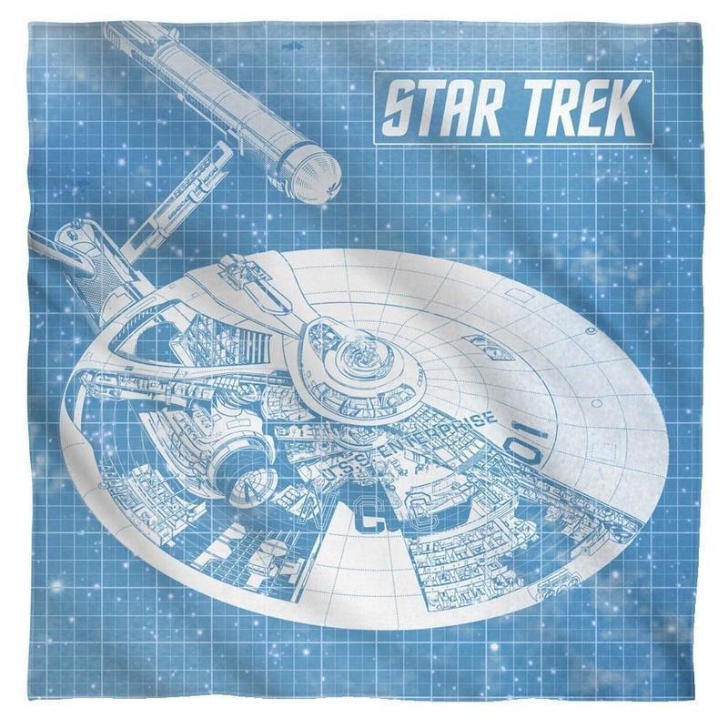 【USA直輸入】スタートレック U.S.S. Enterprise  エンタープライズ バンダナ ブルー ハンカチ スタトレ  Star Trek TNG  TOS  宇宙船