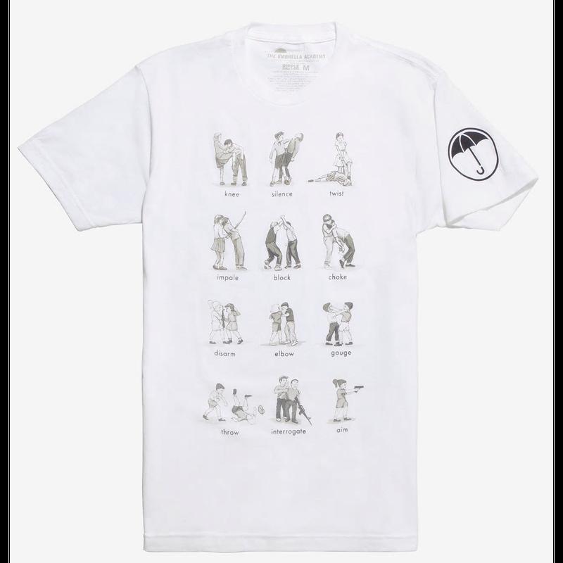 【USA直輸入】Umbrella Academy アンブレラアカデミー ラーニングチャート 白地 Tシャツ 海外ドラマ アンブレラ アカデミー Netflix オリジナル作品 コミック