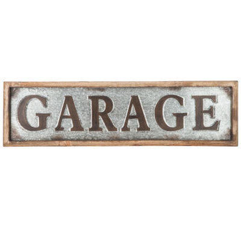 【USA直輸入】ウォールデコ ガレージ GARAGE エンボス加工 メタル 看板
