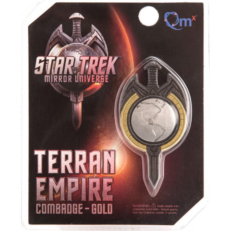 【USA直輸入】スタートレック ミラーユニバース テラン帝国 TERRAN EMPIRE マグネット式 エンブレム バッヂ   Star Trek TNG ロゴ Qmx