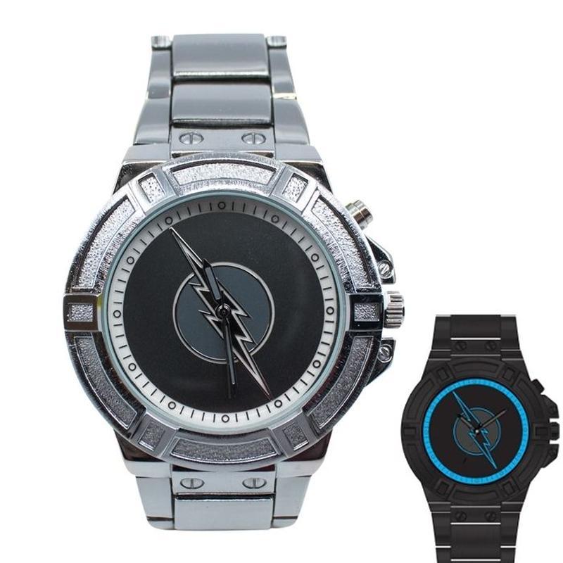 【USA直輸入】DCコミック リバース フラッシュ ズーム シンボル ブラックライト FLASH リストウォッチ 腕時計 ロゴ 正規ライセンス  DC  リバースフラッシュ Zoom