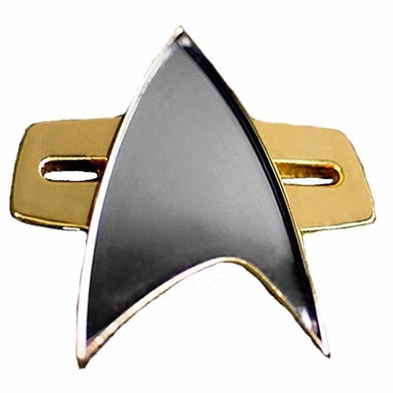 【USA直輸入】スタートレック Voyager コミュニケーター バッヂ マグネット式 エンブレム スタトレ  Star Trek ボイジャー ロゴ マーク Qmx  Communicator