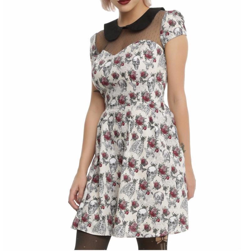 【USA直輸入】ヘルバニー HELL BUNNY グウェンドリン ドレス ワンピース スカル&ローズ