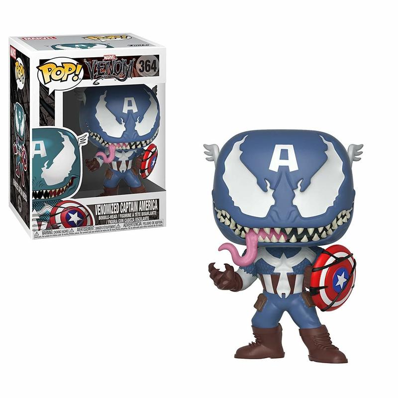 【USA直輸入】POP! MARVEL Venom  ベノム キャプテンアメリカ マルチカラー バブルヘッド ポップ フィギュア FUNKO ファンコ  マーベル