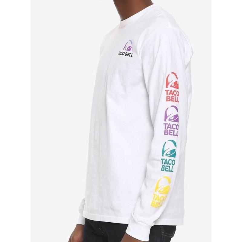 【USA直輸入】Taco Bell タコベル ロゴ ロングスリーブ 長袖 シャツ Sサイズ タコス ブリトー 企業 ファーストフード