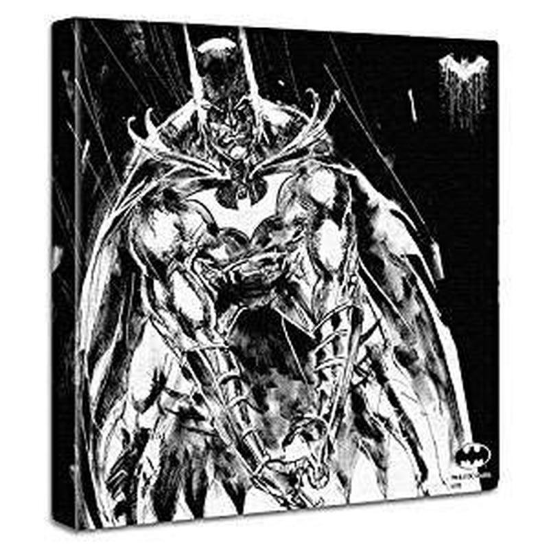 【アートデリ】バットマンのファブリックパネル モノクロ