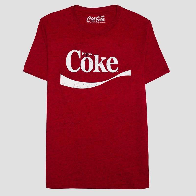 【USA直輸入】Coca-Cola  コカコーラ Enjoy Coke Tシャツ Mサイズ チャイニーズレッド色 企業 コカ・コーラ