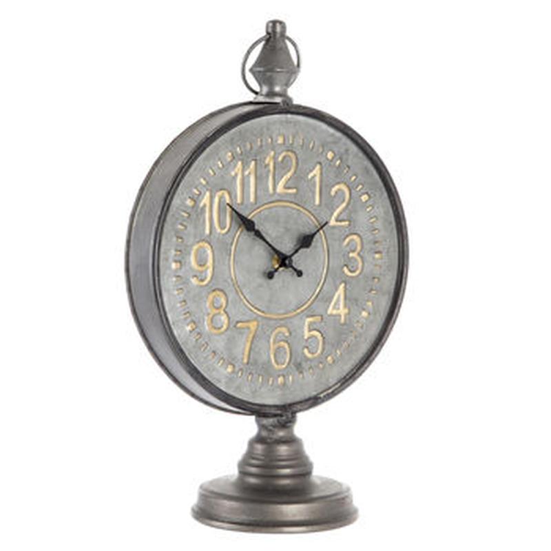 【USA直輸入】エンボス ストップウォッチ メタル クロック 時計 置き時計 アメ雑 インテリア