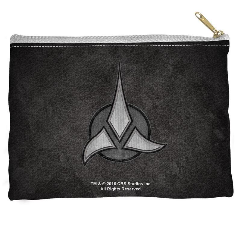 【USA直輸入】スタートレック クリンゴン ロゴ 紋章 フラット ポーチ スタトレ  Star Trek TOS  ウォーフ Klingon クリンゴン帝国 ペンポーチ