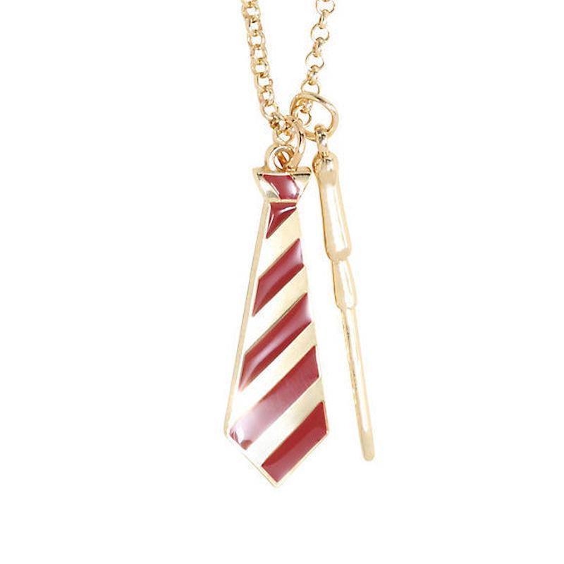 【USA直輸入】映画 ハリーポッター グリフィンドール ネックレス ネクタイ 魔法の杖