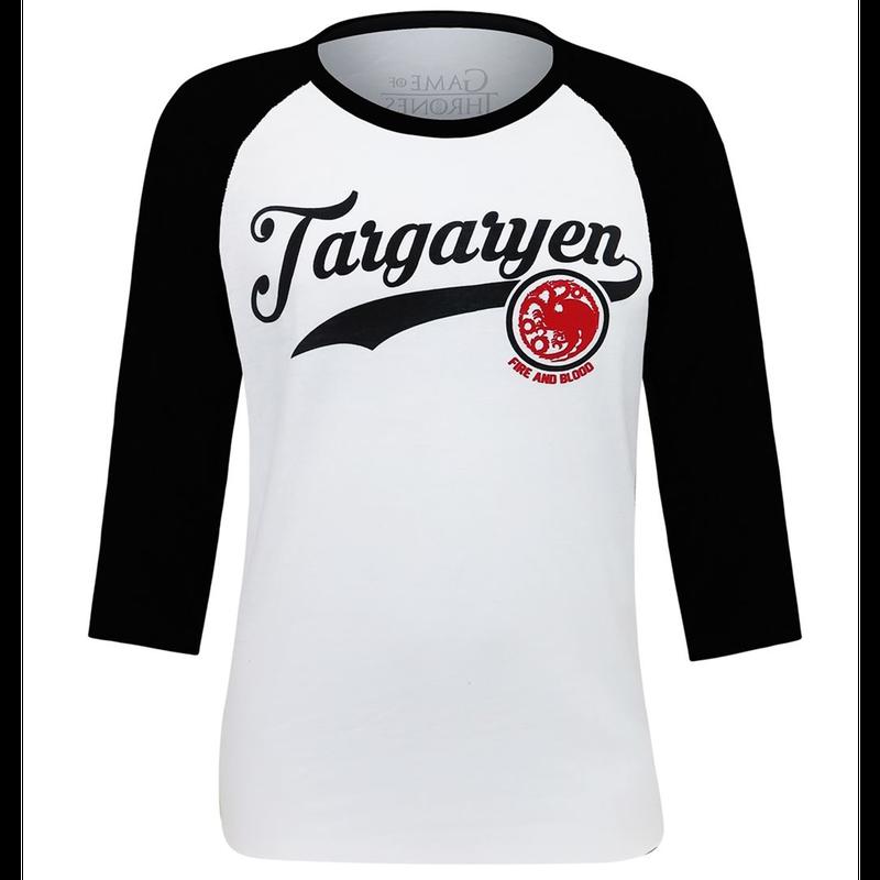 【USA直輸入】ゲームオブスローンズ ターガリエン ベースボール Tシャツ ラグラン 7分丈 Sサイズ ゲーム・オブ・スローンズ GOT Game Of Thrones  Targaryen