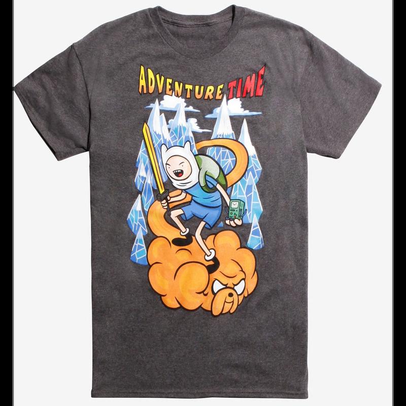 【USA直輸入】 アドベンチャータイム フィン ジェイク 筋斗雲 Tシャツ Mサイズ ドラゴンボール パロディ カートゥーン    Adventure Time  きんとうん