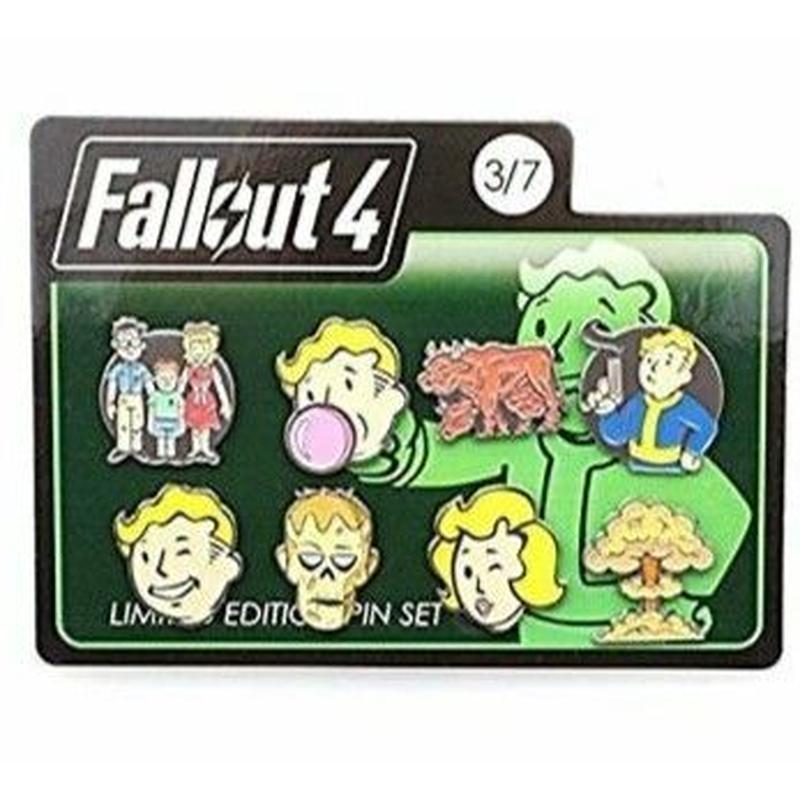 【USA直輸入】フォールアウト 4 リミテッドエディション ピン 8個セット Fallout ボルトボーイ GAME ゲーム ピンズ ピンバッチ Vault-Tec
