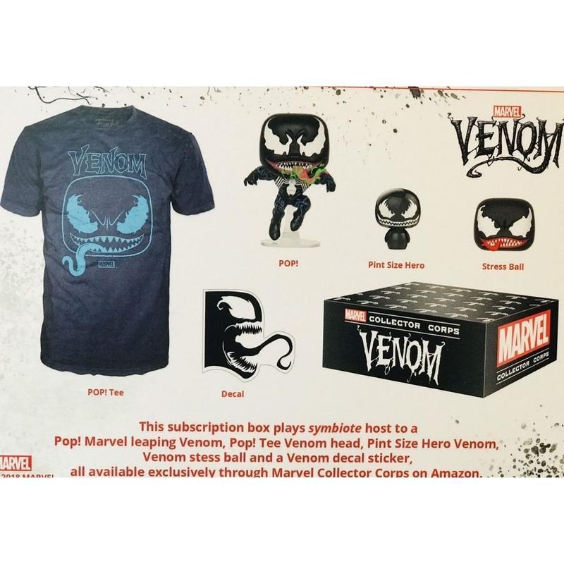 【USA直輸入】MARVEL ベノム コレクターコープス POP! フィギュア Tシャツ セット ボックス FUNKO マーベル  venom marvel collector corps ヴェノム
