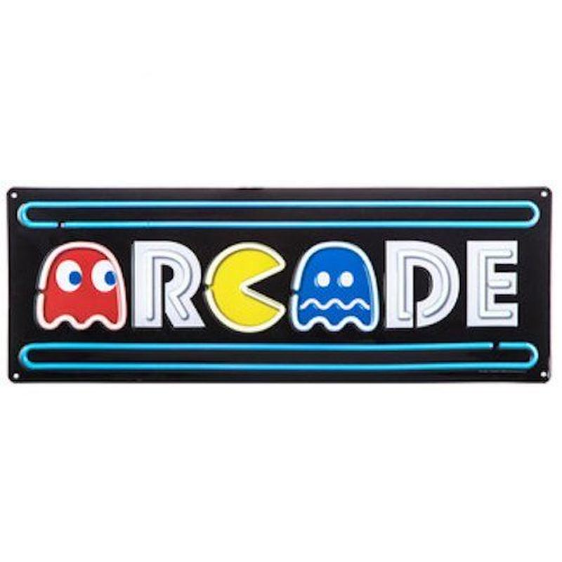 【USA直輸入】ブリキ看板 アーケード パックマン Pac-Man エンボス加工 メタルサイン ブリキ 看板  ブリキ看板 ポスター  GAME ゲーム