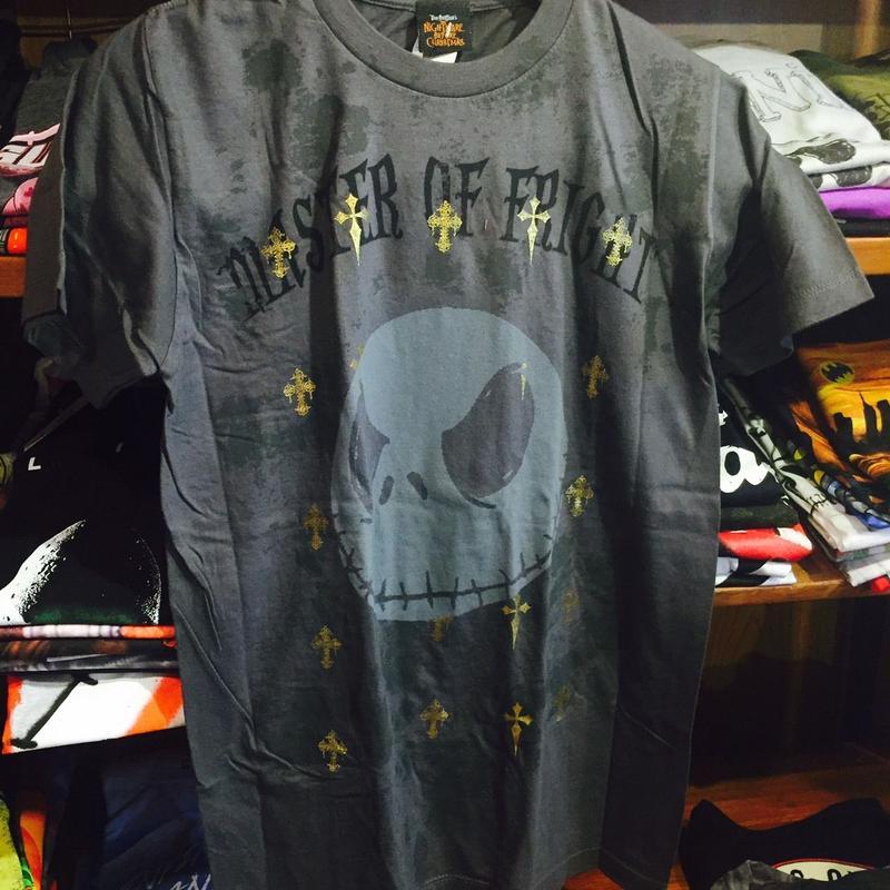 【USA直輸入】DISNEY ナイトメアビフォアクリスマス ジャック フェイス クロス Tシャツ ディズニー
