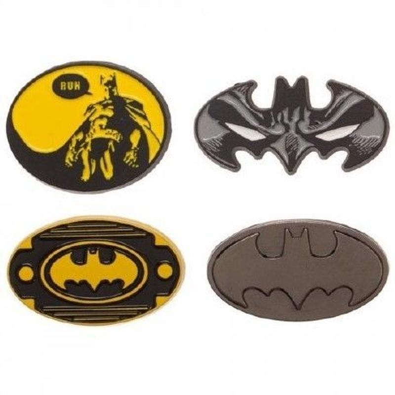 【USA直輸入】DC バットマン ロゴ エナメル ピン 4個セット ピンズ DCコミックス ピンバッジ  Batman ジャスティスリーグ