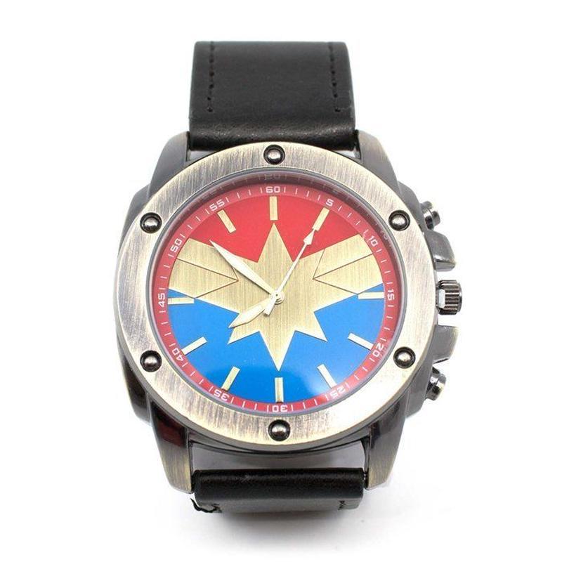 【USA直輸入】MARVEL キャプテンマーベル シンボル リストウォッチ 腕時計 マーベル 正規ライセンス   アベンジャーズ キャプテン