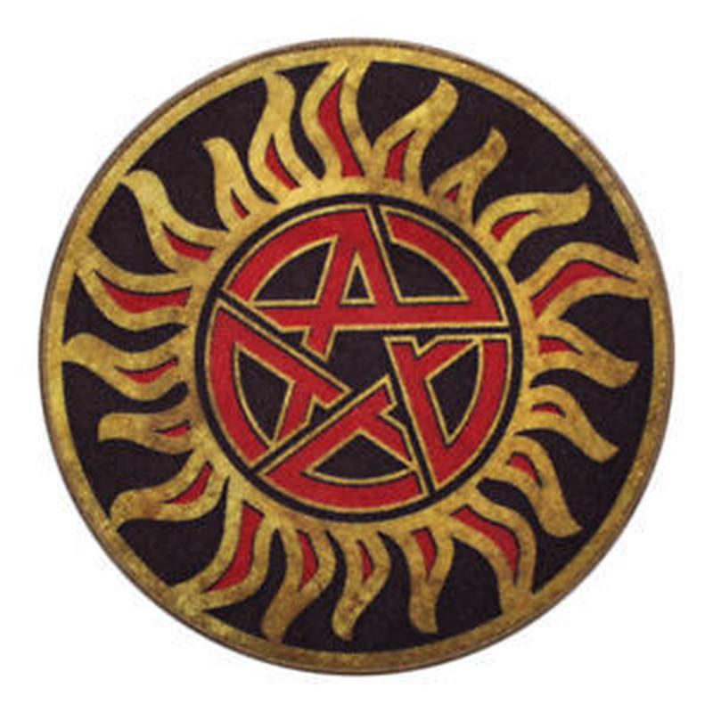 【USA直輸入】スーパーナチュラル ANTI-POSSESSION シンボルマーク ドアマット Supernatural   ラグ マット