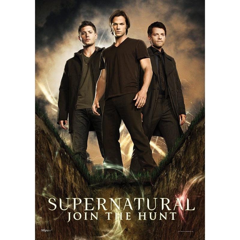 【USA直輸入】スーパーナチュラル ウォールアート サム ディーン カスティエル Hunters ポスター Supernatural  ウィンチェスター兄弟  キャス