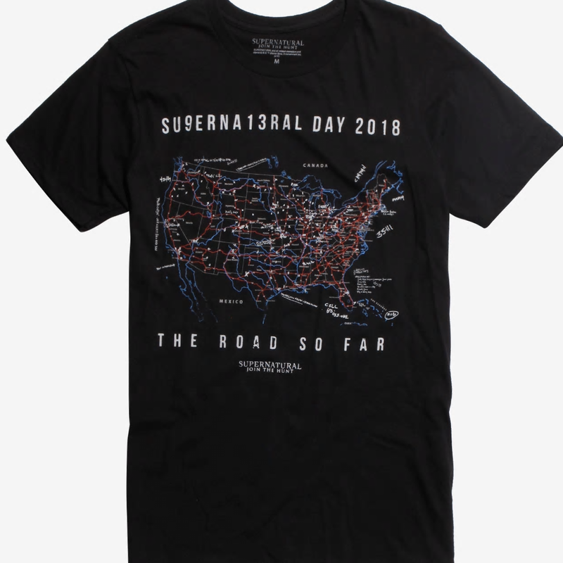 【USA直輸入】スーパーナチュラル Su9erna13ral Day 2018 The Road So Far Tシャツ Supernatural