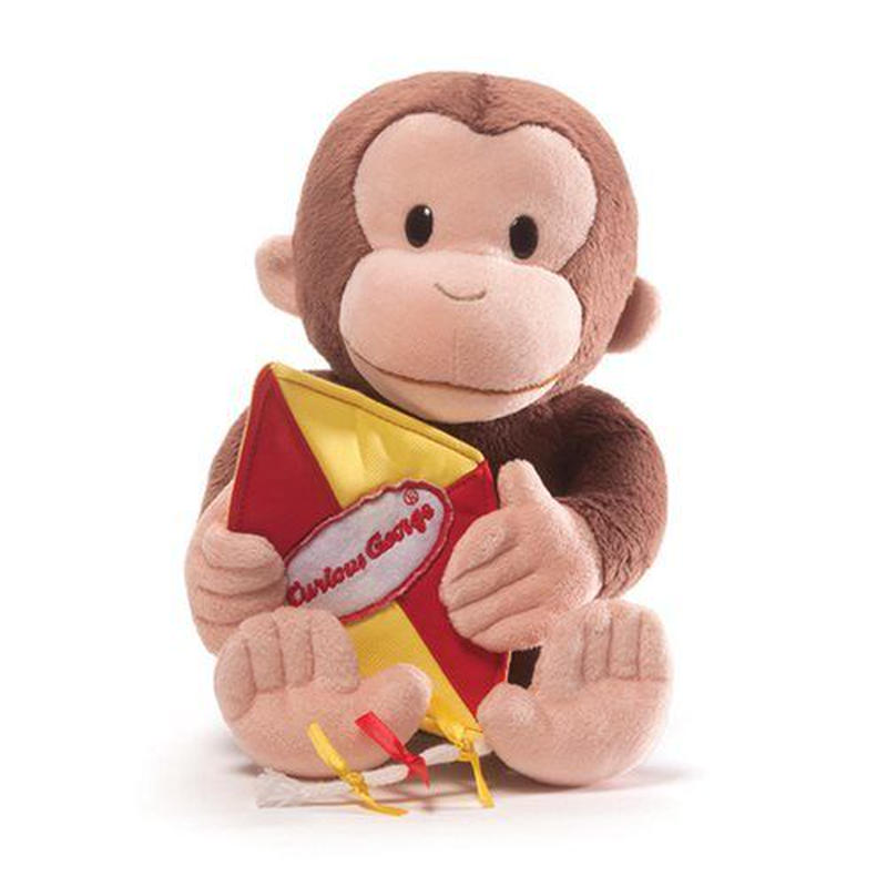 【USA直輸入】おさるのジョージ カイト 凧あげ ぬいぐるみ 13インチ プラッシュ キュリアスジョージ