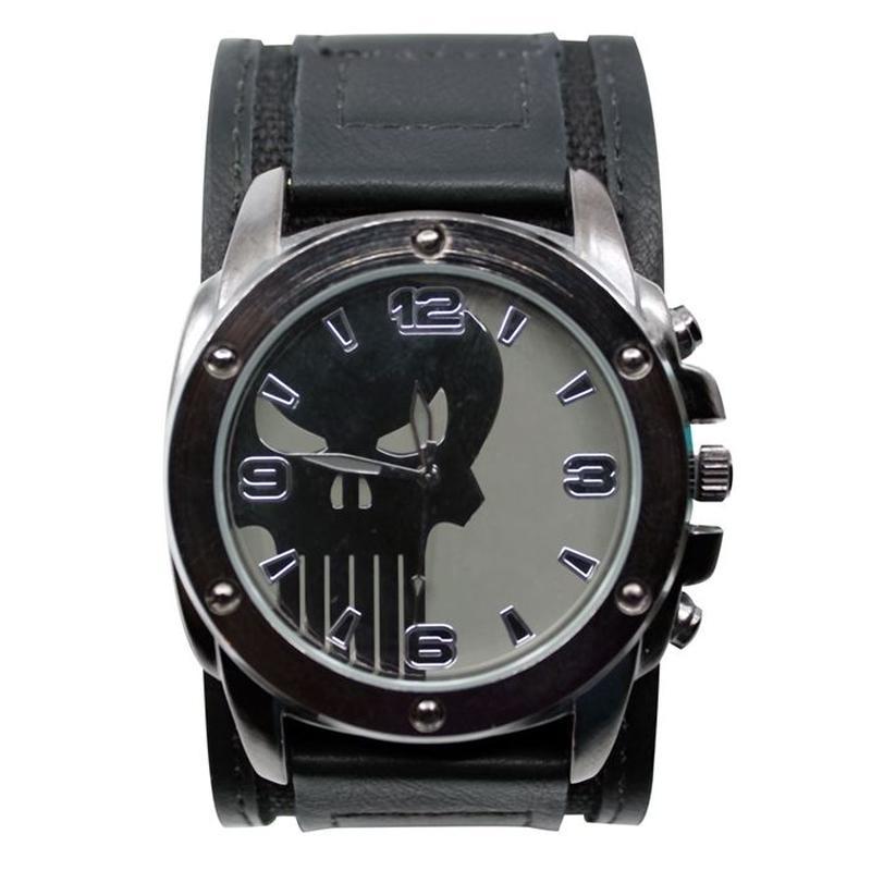 【USA直輸入】MARVEL パニッシャー シンボル ロゴ リストウォッチ ベルト 腕時計 マーベル Punisher