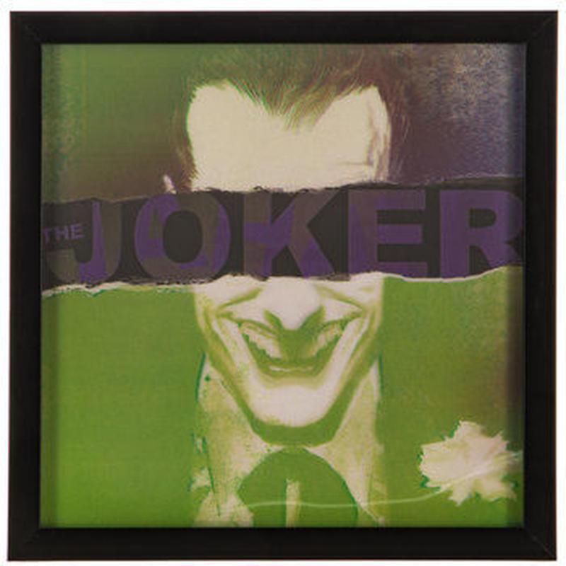 【USA直輸入】DC ジョーカー 3D レンチキュラー ウッド ウォールデコ 看板  ポスター  Joker バットマン 壁掛け インテリア  DCコミックス