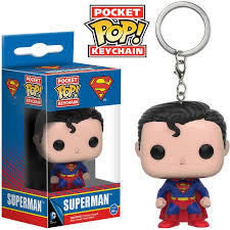 【USA直輸入】ポケットPOP! キーチェーン スーパーマン キーホルダー FUNKO DCコミックス   ポップ ジャスティスリーグ Superman