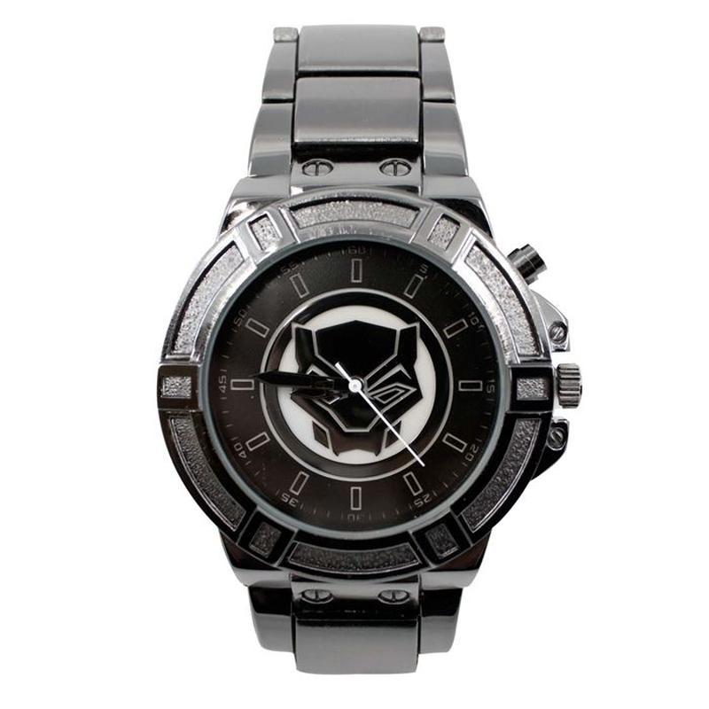 【USA直輸入】MARVEL ブラックパンサー バックライト シンボル リストウォッチ 腕時計 マーベル 正規ライセンス  ワカンダ ブラック パンサー